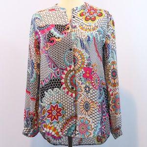 Desigual Mix Printed Button Up Shirt